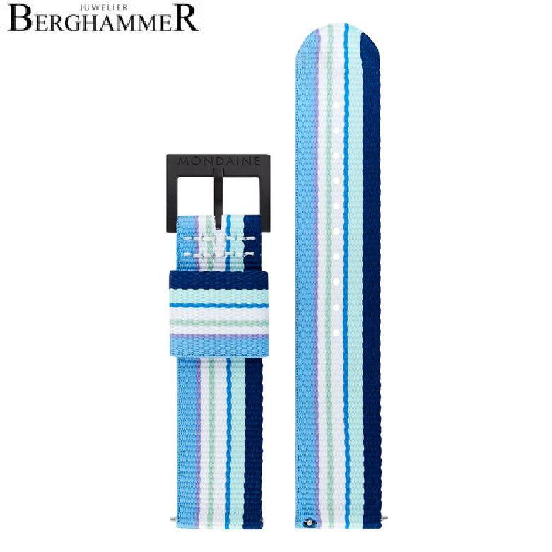 Mondaine Textilarmband aus recyceltem PET, 20mm, FTM.3120.40B.K