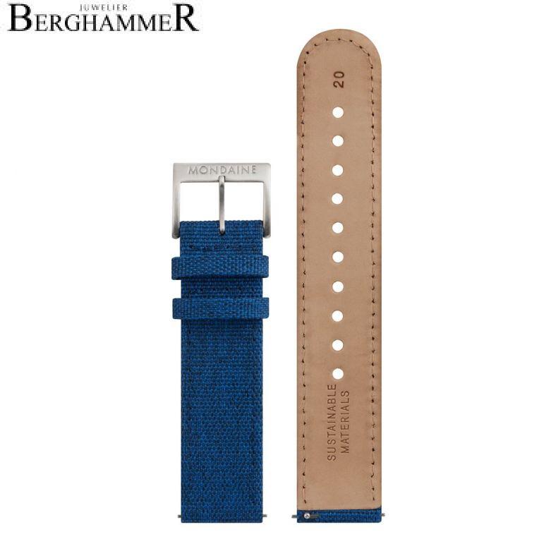 Mondaine Textil Armband, 20mm, FTM.3120.40Q.2.K