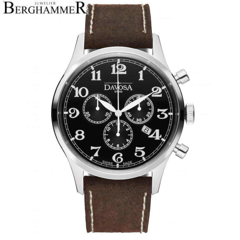 Davosa Executive Heritage Chronograph Quartz 43mm 162.479.56