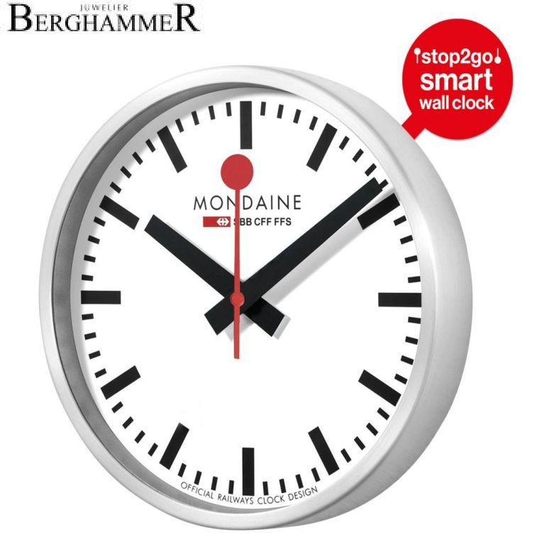 Mondaine Official Swiss Railways Smart stop2go Clock MSM.25S10
