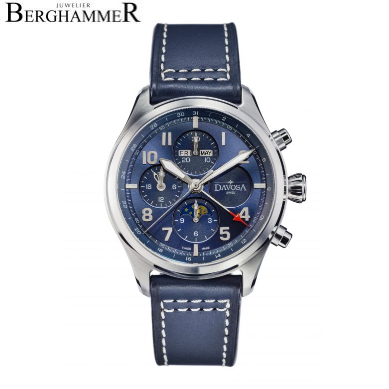 Davosa Pilot Newton Pilot Moonphase Chronograph Automatic 44mm 161.586.45
