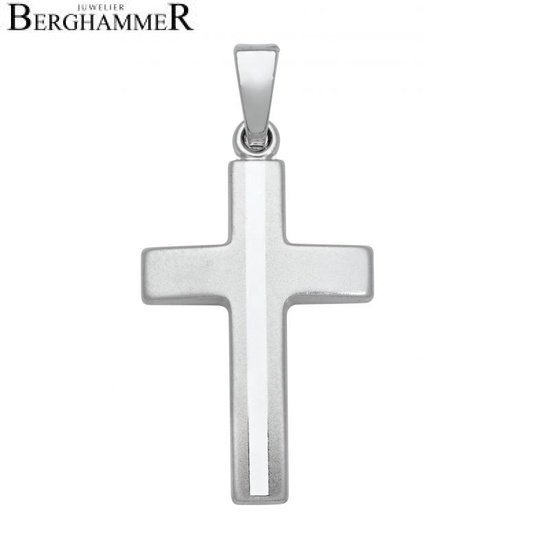 Anhänger 925 Silber Rhodiniert Kreuz SKE22