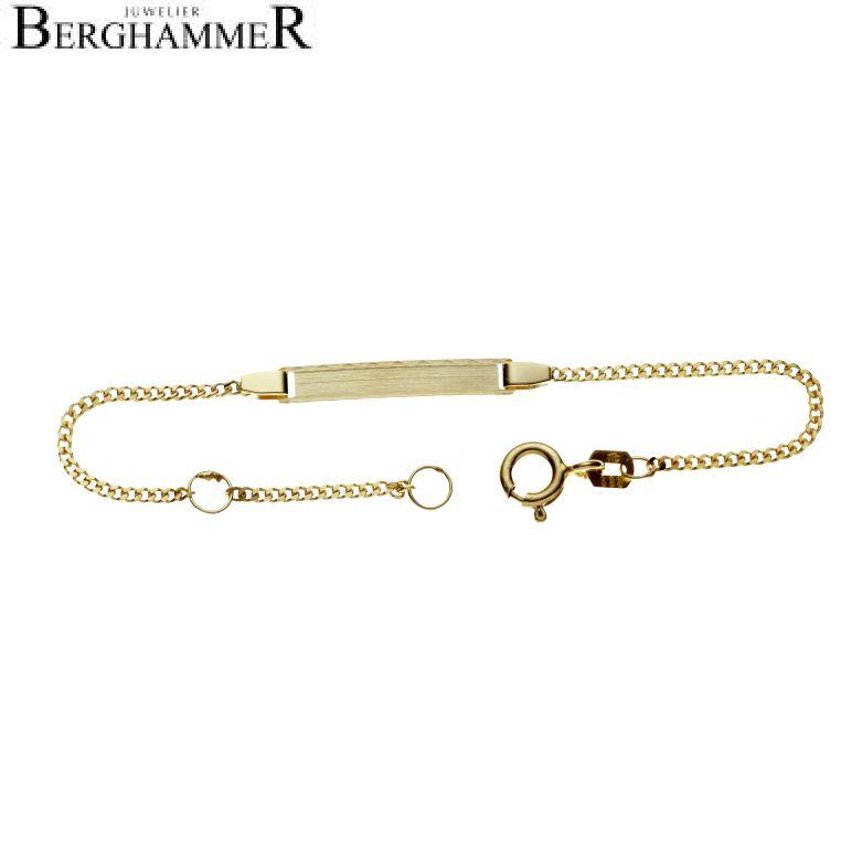 Armband 14kt Gelbgold Schildarmband TG08