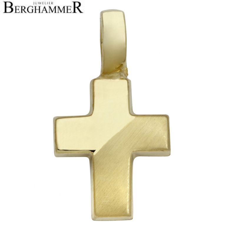 Anhänger 14kt Gelbgold Kreuz TG16