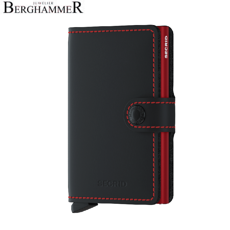 Secrid RFID Miniwallet Matte Black & Red