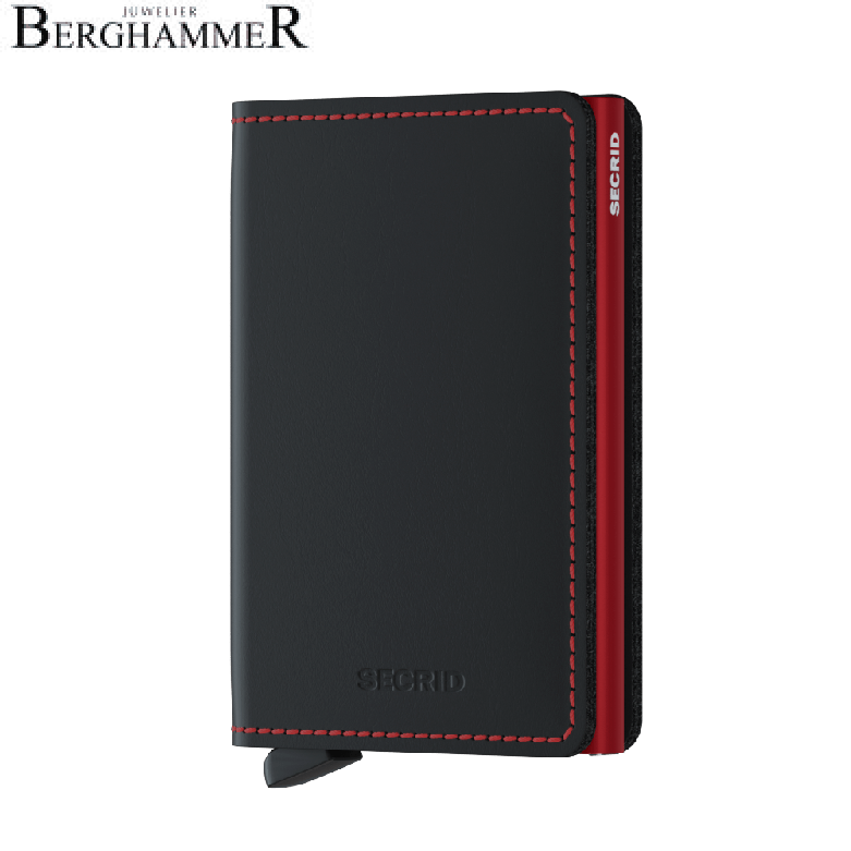 Secrid RFID Slimwallet Matte Black & Red
