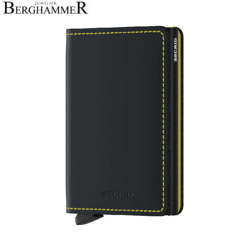Secrid RFID Slimwallet Matte Black & Yellow