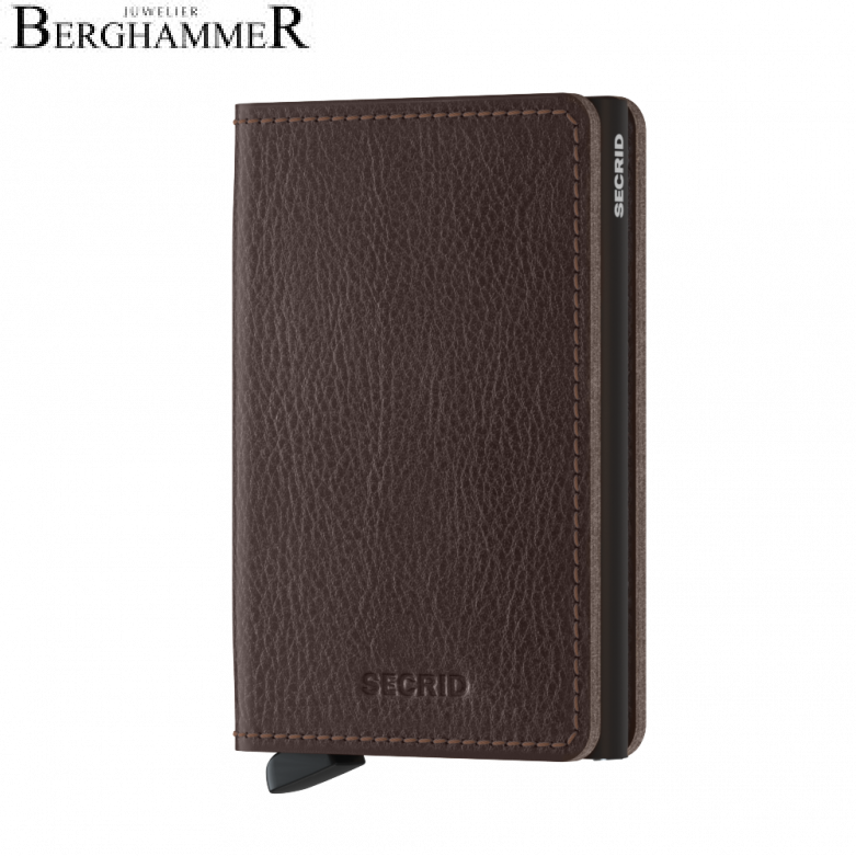Secrid RFID Slimwallet Vegetable Tanned Espresso-Brown