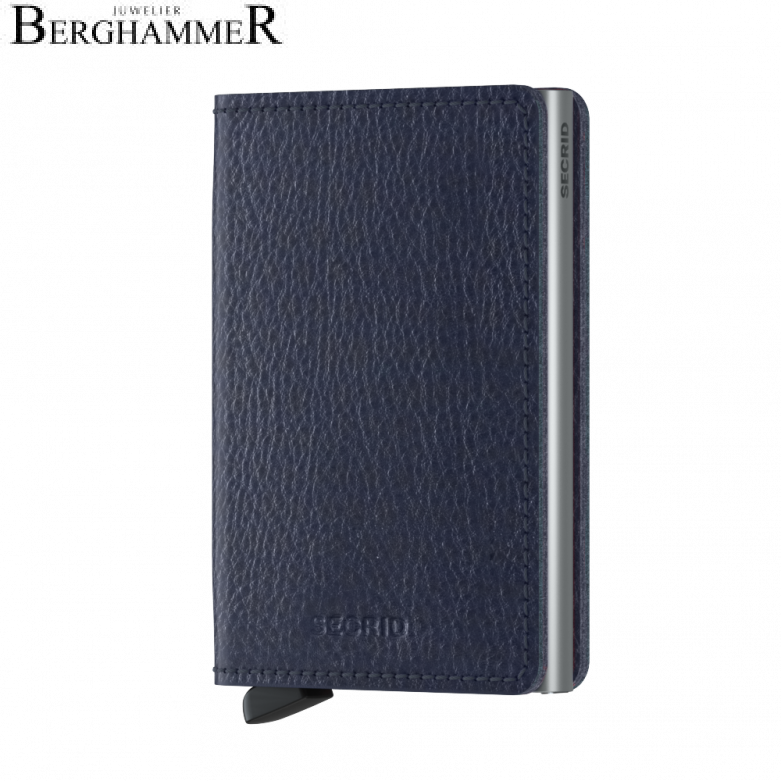 Secrid RFID Slimwallet Vegetable Tanned Navy-Silver