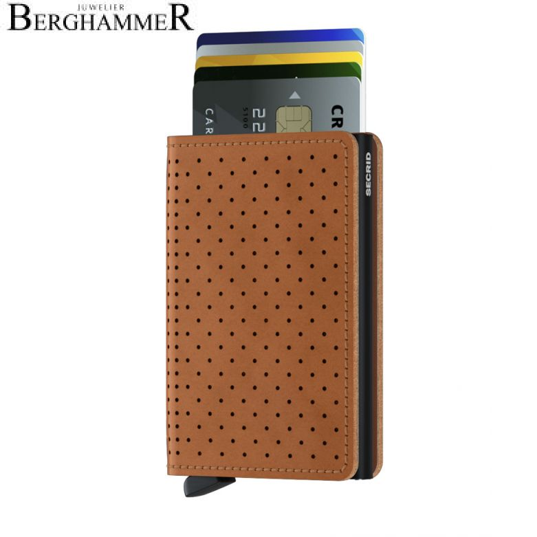Secrid RFID Slimwallet Perforated Cognac