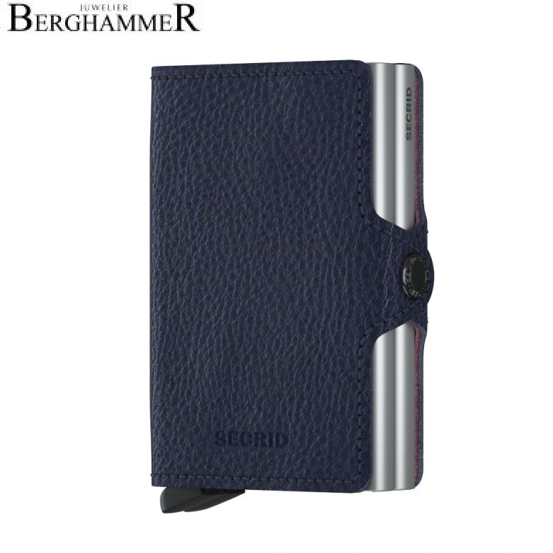 Secrid RFID Twinwallet Vegetable Tanned Navy-Silver